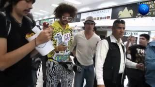 RedFoo LMFAO Llegada a la ciudad de México