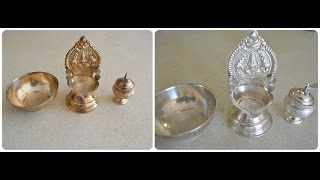How to clean/polish silver pooja items at home