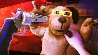 SHOOTING THE DOG WITH MOM'S SECRET GUN!!?! - Duck Season (VR HTC VIVE)