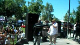 Lil Cuete & Kozme performing Rainy Days 8/1/2010 @ Bakersfiled Kern County Fair Grounds