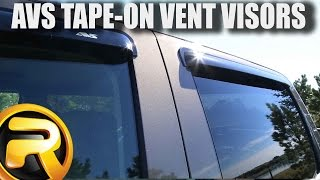 How to Install AVS Tape-On Vent Visors on a GMC Sierra
