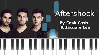 "Cash Cash - ""Aftershock"" ft Jacquie Lee Piano Tutorial - Chords - How To Play - Cover"
