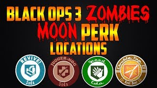 MOON PERK LOCATIONS! (Call of Duty Black Ops 3 Zombies Chronicles)