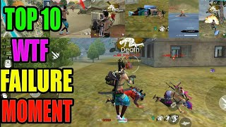 Top 10 WTF 👎💩  moment|| Free fire great failure|| Free fire tricks and tips|| Run Gaming