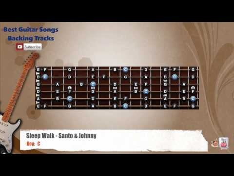 Sleep Walk - Santo & Johnny Guitar Backing Track with scale Chords ...