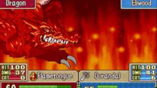 Athos, Canas and Eliwood OHKOs the fire dragon