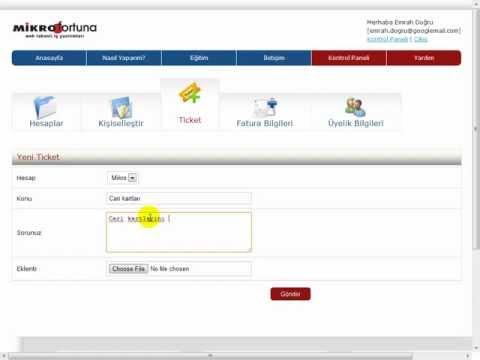 Mikro fortuna - Kontrol paneli kullanımı