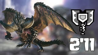 MHW : Nergigante(ネルギガンテ) - 2'11 min. [Charge Blade solo]