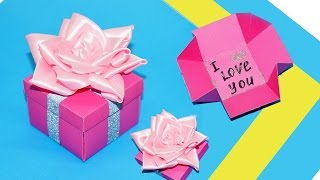 DIY gift box. Gift box making ideas. How to make easy box for gifts - tutorial. DIY paper crafts