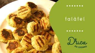Falafel SEM FRITAR pra ter congelado em casa | Drica na Cozinha