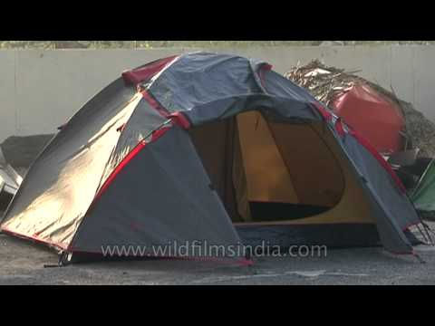 Camping tents in National Chambal Sanctuary