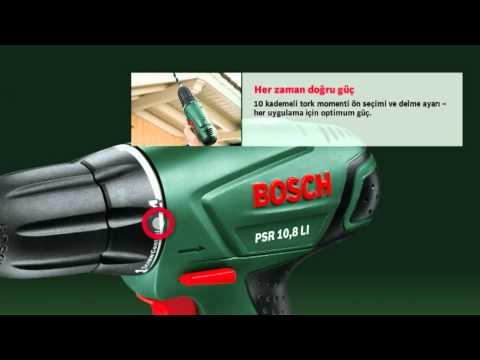 PSR 10 8 LI   Akülü vidalama makinesi  Lityum İyon   Amatör kullanıcılar için Bosch elektrikli el aletleri