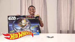 Star Wars Death Star Revolution Race Demo | Hot Wheels