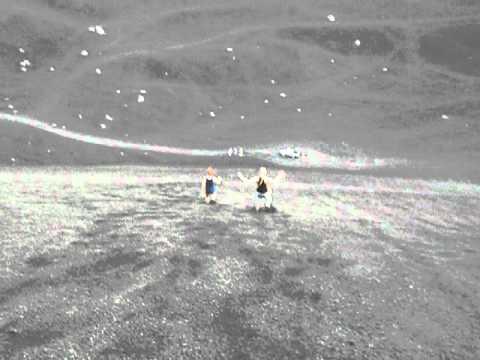 sliding down cerro negro