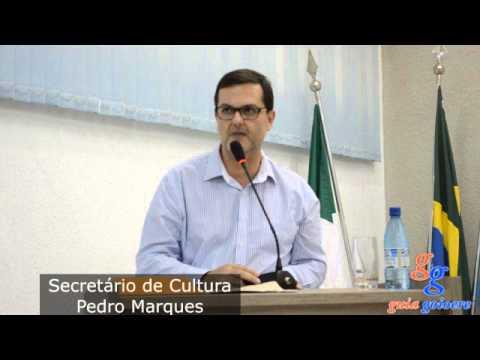 Pedro Marques. Secretário de Cultura fala na tribuna livre. agrade e pede melhoras aos vereadores
