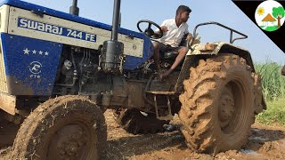 King of driver my  SWARAJ TRACTOR  /  SWARAJ 744 FE Tractor STUNT/ Super Power and Fast Tractor