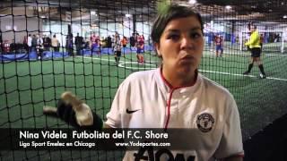 Nina Videla jugadora de futbol en Chicago