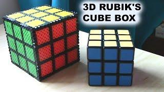 3D Perler Bead Rubik's Cube Box
