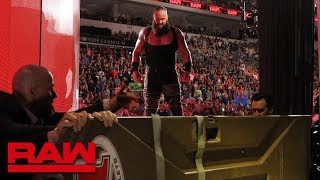 Braun Strowman sends Kevin Owens for a ride in a portable toilet: Raw, July 2, 2018 width=