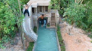 Ingenious Designs Of Amazing Water Slide Villa House Around Swimming Pool