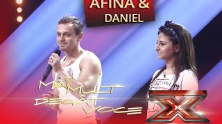 """Eminem ft. Rihanna - """"The monster"""". Vezi aici cum cântă Afina și Daniel la X Factor"""