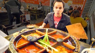 Chinese Street Food HOT POT HEAVEN + RABBIT Noodles and SPICY Dumplings in China - CHILI OIL 4 LIFE! width=