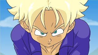 Trunks meets Goku (Dragon Ball Z  Animation Parody) width=