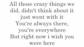 Avril Lavigne - Wish You Were Here Karaoke/Instrumental