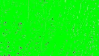 Rain Drops on Glass Window -1080p Green Screen