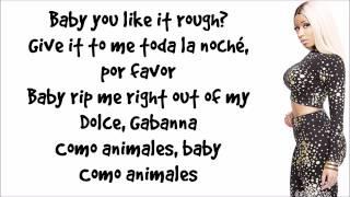 Nicki Minaj - Animales (Verse) Lyrics Video HD