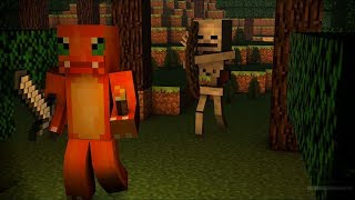 "Chilly Charmeleon Spooky Scary Skeletons Parody ""Spooky Minecraft Skeletons"""