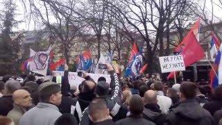 Pecka kandila ( Пећка кандила ) Protestni skup, 20.02.2016.