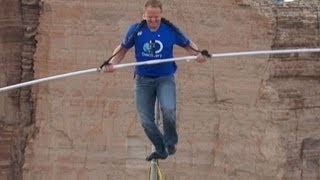 Nik Wallenda Crosses 1,500-Foot Grand Canyon Gorge on Tightrope