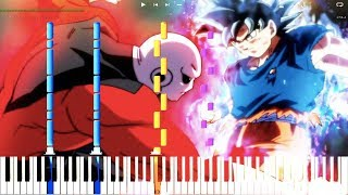EXTENDED! Jiren's Theme / Jiren's Power Unleashed - Dragon Ball Super OST (Piano Cover Tutorial)