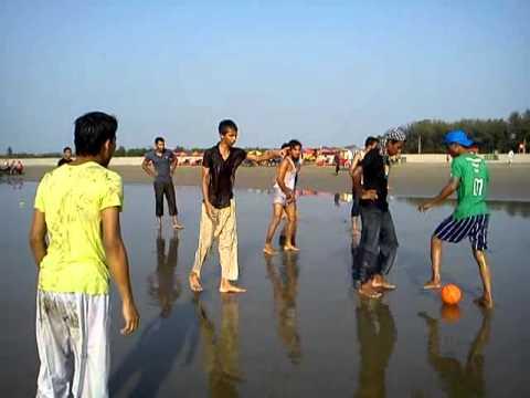 Some youth from kishoregonj in Cox's bazar sea beach