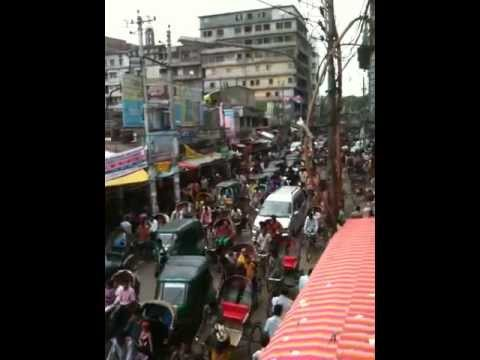 Traffic situation in Dhaka, Bangladesh.