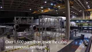 Manutenção do A380: Dois meses em dois minutos