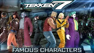 FAMOUS CHARACTERS | Tekken 7: Customization (Game & Movie Characters)