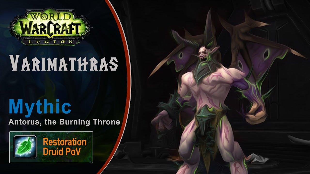 [LGN] Varimathras, Mythic Antorus, Restoration Druid PoV (Game Sounds Only)
