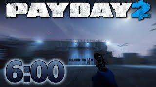 PAYDAY 2 - Shadow Raid - Speedrun 6:00m - NO ALARM [Solo - DS/OD]