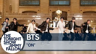 BTS Performs ON  at Grand Central Terminal for The Tonight Show
