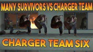 Left 4 dead 2 - Charger team six vs many survivors ( vs admin abuse )