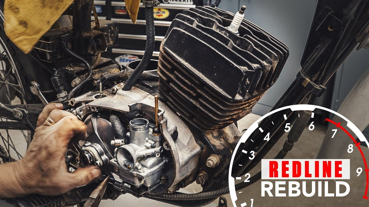 Redline Rebuild: Watch this Kawasaki KE100 come back to life in 5 minutes