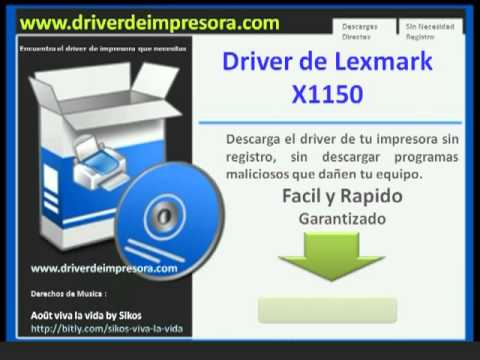 pilote lexmark x1150 windows 7