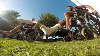 GoPro : Fun in the hospital - broken leg