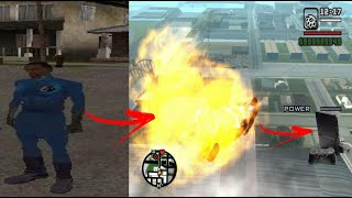 Códigos/Manhas pra você virar o Quarteto Fantástico no GTA San Andreas de ps2 SEM MOD