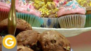 Recetas y secretos de Narda - Muffin de bananas - Torta de chocolate - Cookies de chocolate