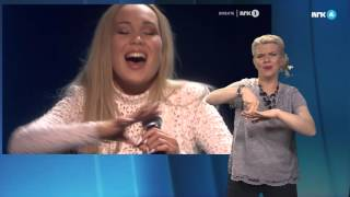 Agnete «Icebreaker» på tegnspråk - MGP 2016