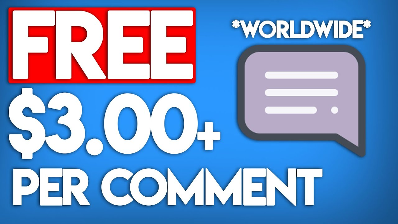 Get .00 Per Comment For FREE!