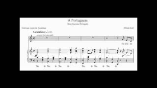 Hino Nacional de Portugal - A Portuguesa (Piano - com partitura)